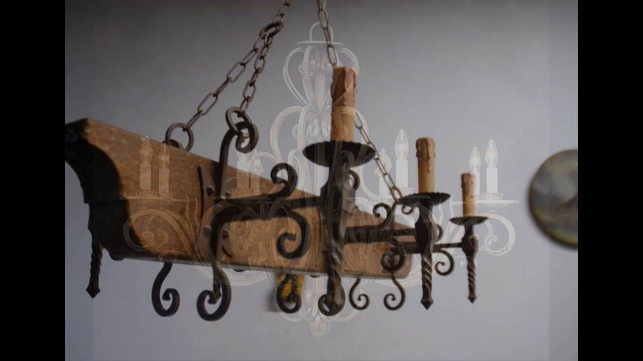 Wrought Iron Chandelier Within Popular Wrought Iron Chandeliers – Youtube (View 14 of 15)