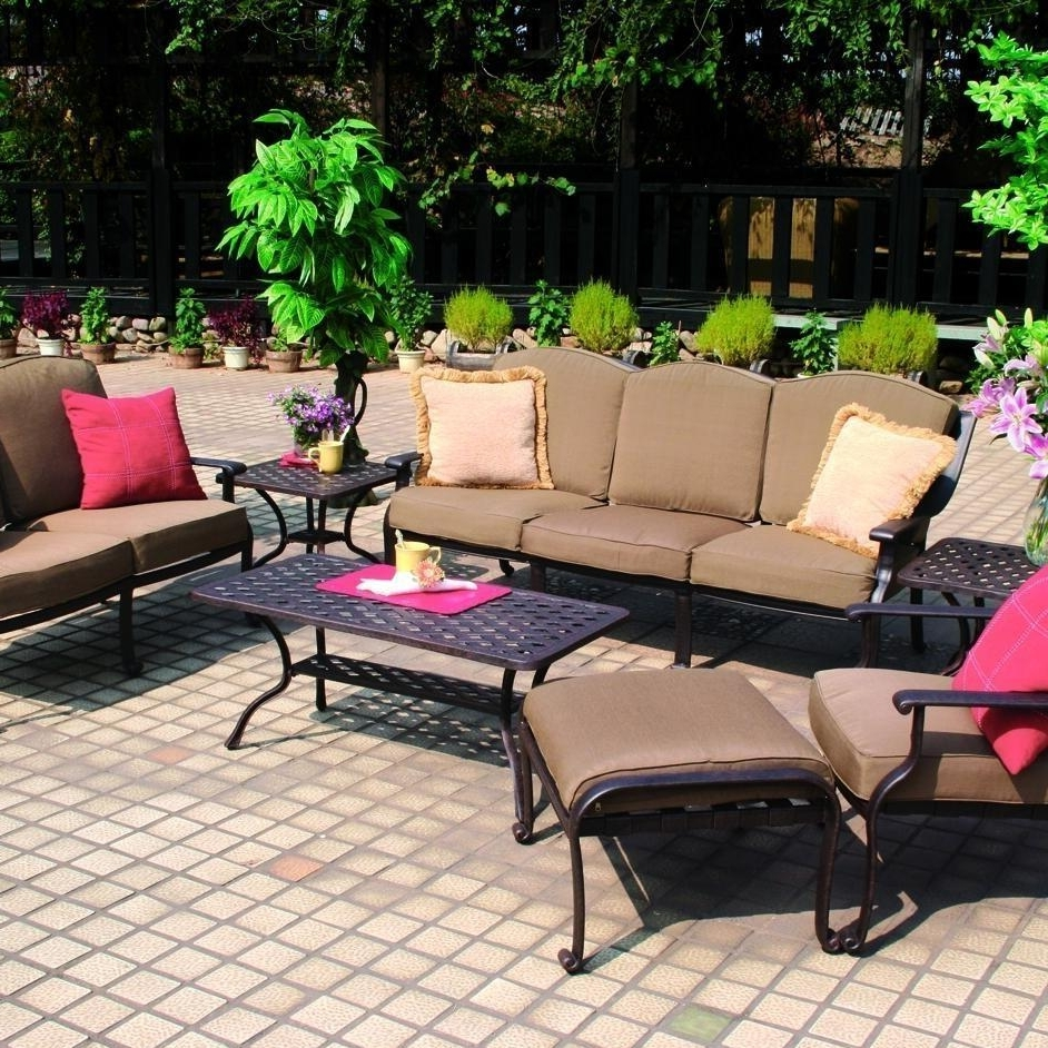 2017 Aluminum Patio Conversation Sets With Darlee Ten Star 7 Piece Cast Aluminum Patio Conversation Seating Set (View 1 of 15)