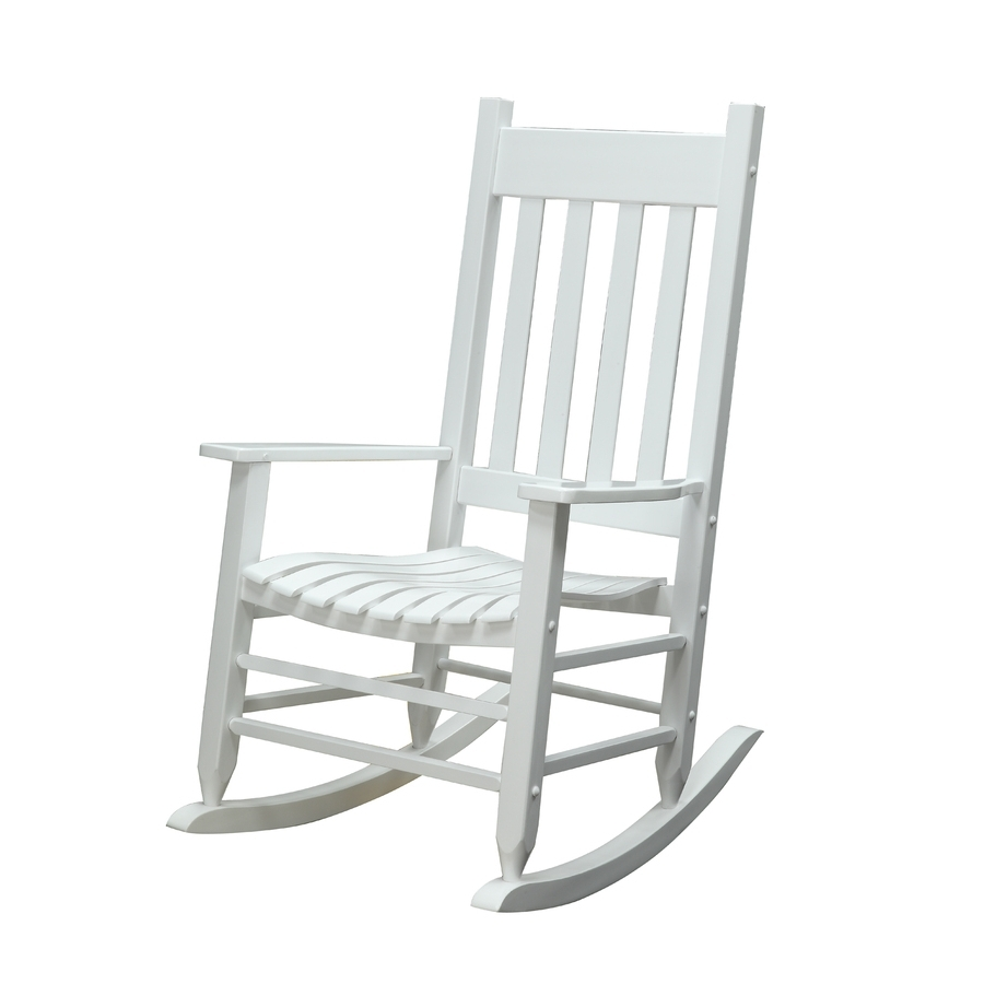 2017 Outdoor Vinyl Rocking Chairs With Regard To Porch Rockers Rocker White Rocking Chair Helps Garden Treasures (View 2 of 15)