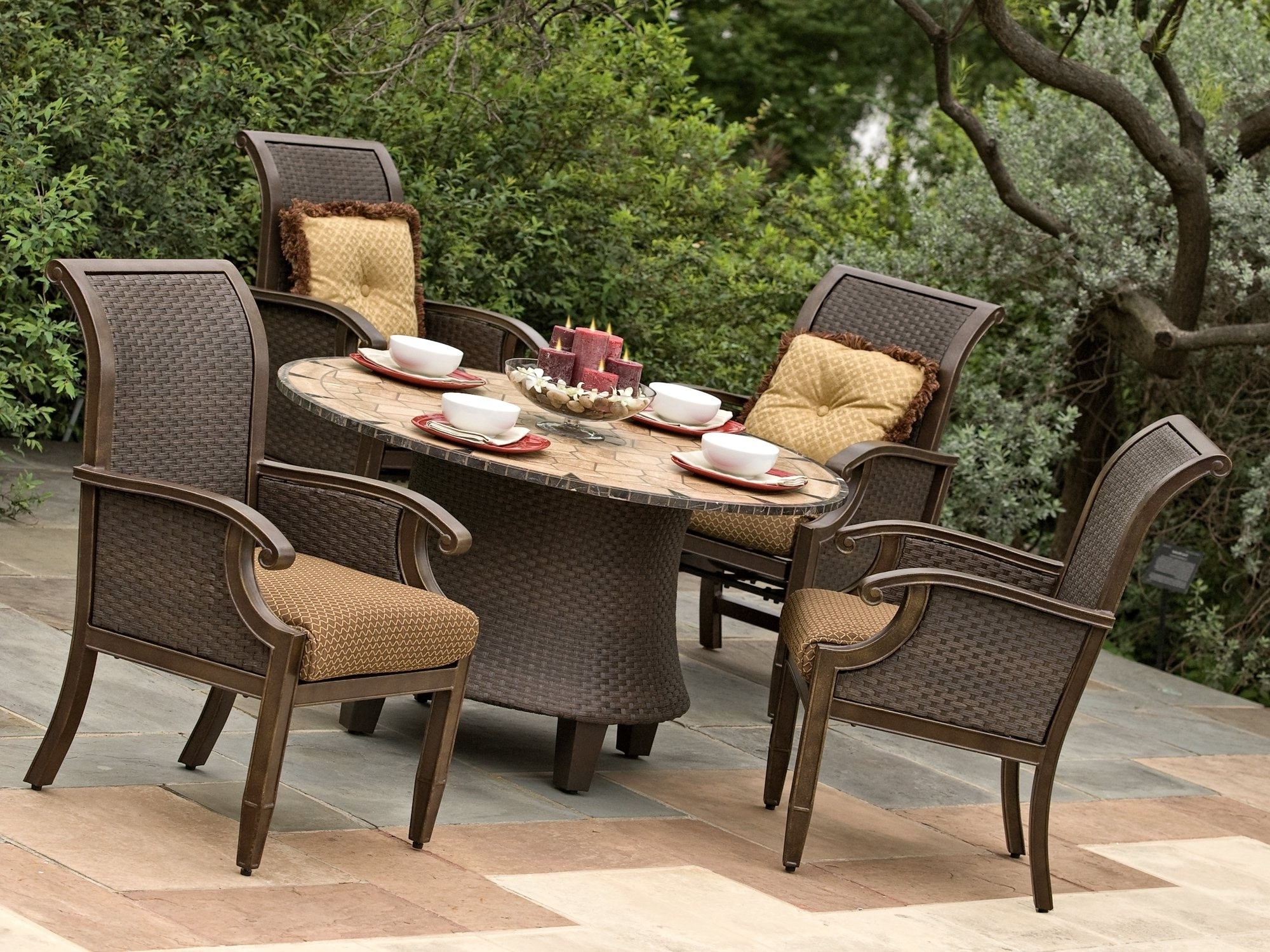 2017 Patio Conversation Sets With Dining Table Inside Marvelous Outdoor Patio Furniture 27 Kor Relaxed Location Dining  (View 6 of 15)