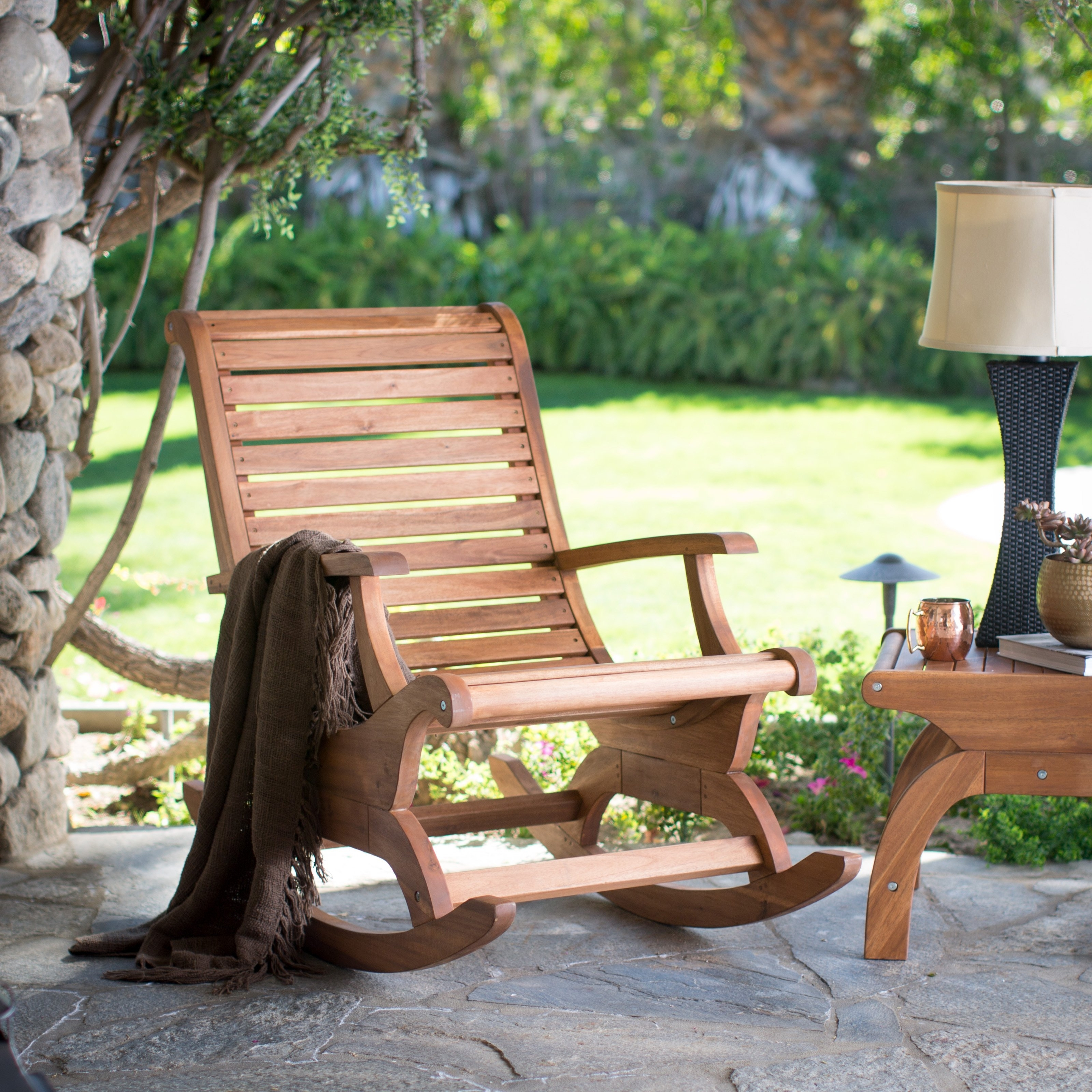 2017 Patio & Garden : Outdoor Rocking Chairs On Hayneedle Top Porch In Inexpensive Patio Rocking Chairs (View 1 of 15)