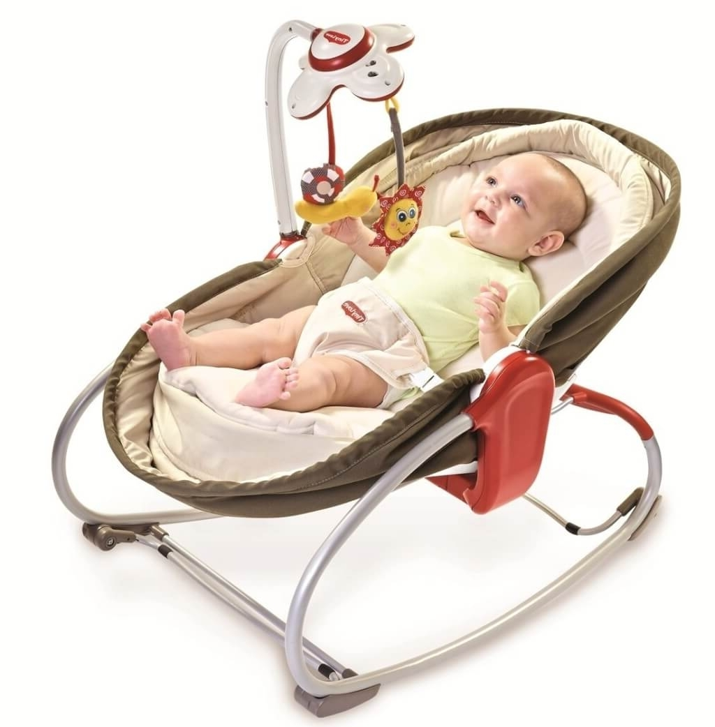2017 Rocking Chairs For Babies With Furniture: Cute Brown Baby Rocking Chair Design With Bouncer – Cool (View 1 of 15)