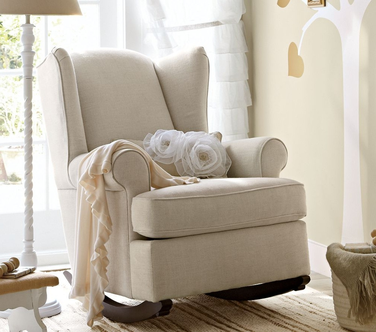 2017 Rocking Chairs For Nursing Throughout Ottomans : Cheap Rocking Chairs For Nursery Gray Glider Baby (View 2 of 15)