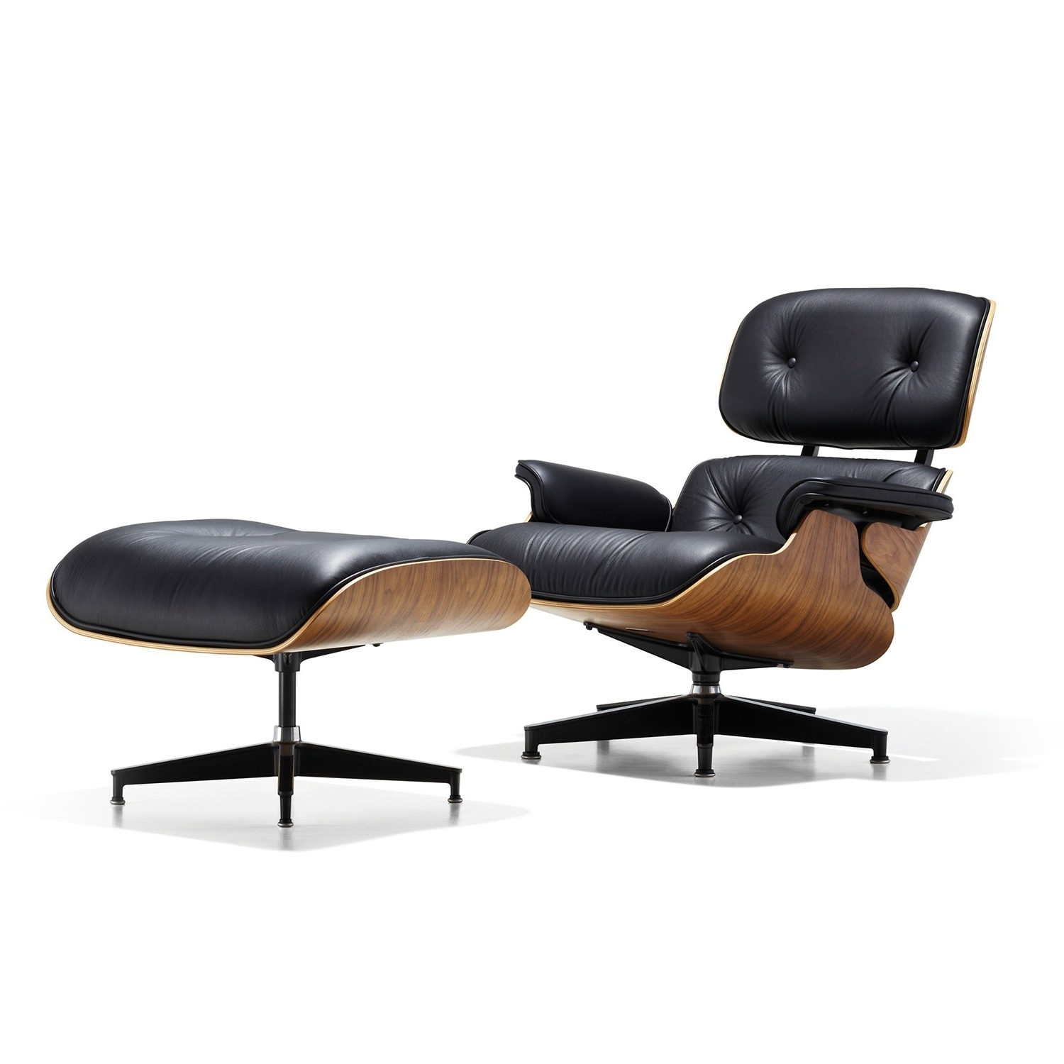 2017 Rocking Chairs With Footstool Pertaining To Ottoman : Herman Miller Lounge Seating Charles Eames Rocking Chair (View 15 of 15)