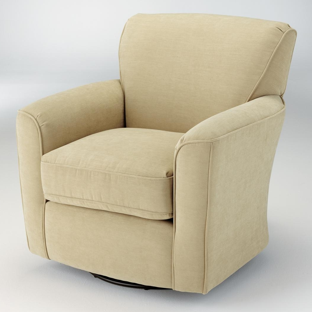 2017 Swivel Rocking Chairs Pertaining To Best Home Furnishings Swivel Glide Chairs Kaylee Swivel Barrel Arm (View 1 of 15)