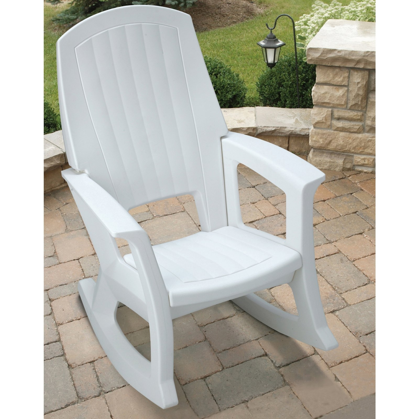 2017 White Patio Rocking Chairs Inside Semco Recycled Plastic Rocking Chair – Walmart (View 1 of 15)