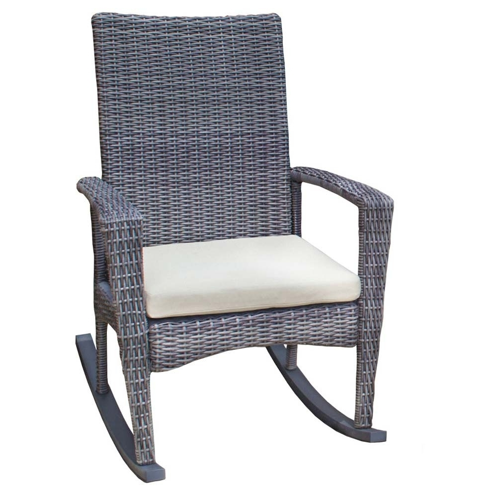 2017 Wicker Rocking Chairs For Outdoors Within Tortuga Outdoor Bayview Rocking Chair – Wicker (View 7 of 15)