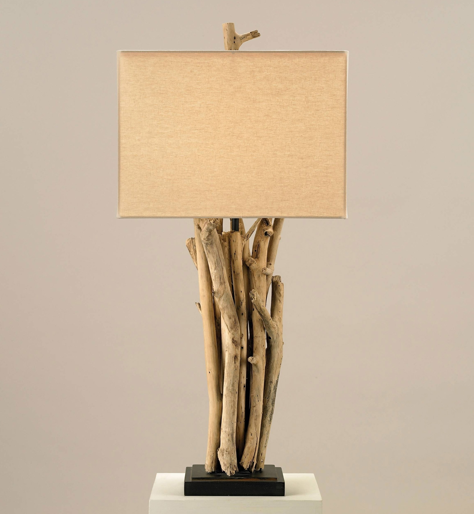 2018 Currey And Company 6344 Driftwood Table Lamp Regarding Wood Table Lamps For Living Room (View 2 of 15)