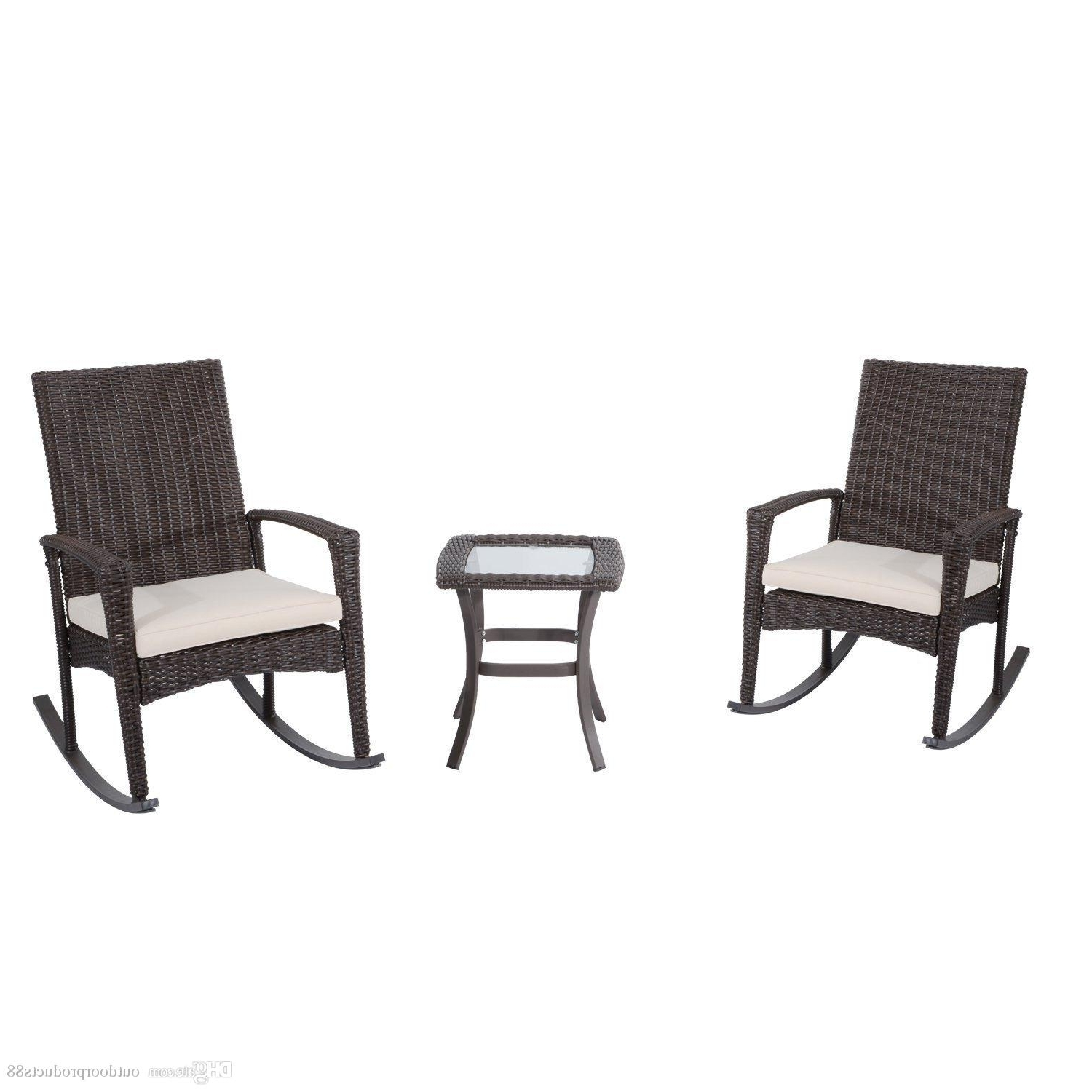 2018 Outdoor Rocking Chair And Table Set,rocking Rattan Wicker Chiar Inside Preferred Outdoor Rocking Chairs With Table (View 7 of 15)