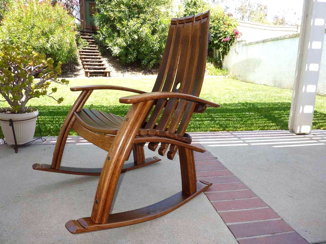 2018 Rocking Chair Outdoor Wooden Pertaining To Outdoor Wooden Rocking Chairs Design – Home Interior And Furniture (View 15 of 15)