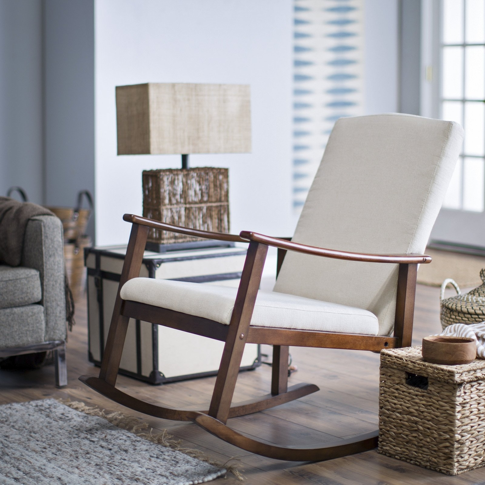 2018 Rocking Chairs For Living Room Throughout Belham Living Holden Modern Indoor Rocking Chair Upholstered Master (View 1 of 15)