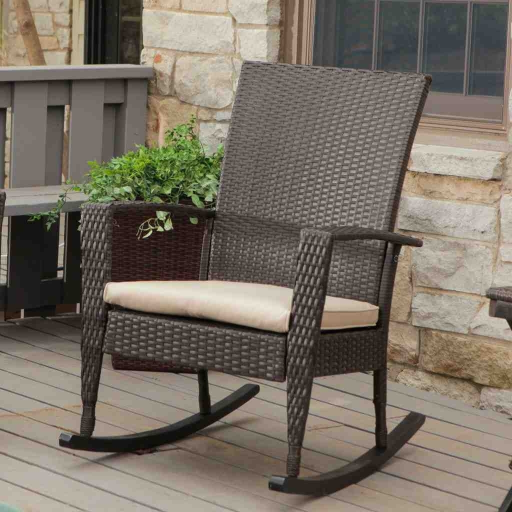 2018 Rocking Chairs For Outside Intended For Livingroom : Cool Patio Rockings Canada Canadian Tire Wicker Dining (View 1 of 15)