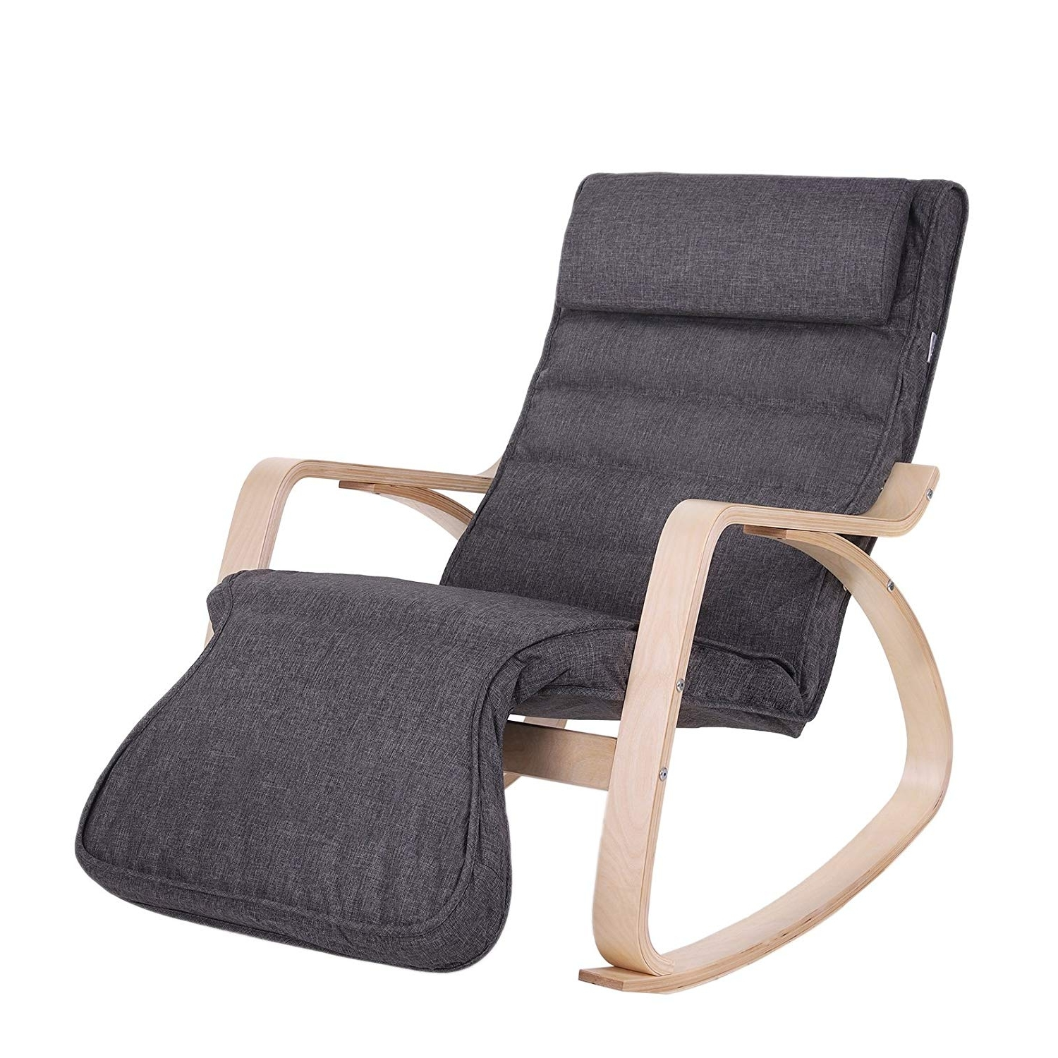 2018 Songmics Relax Rocking Chair/lounge Chair/recliners/gliders With 5 Regarding Rocking Chairs With Footrest (View 15 of 15)