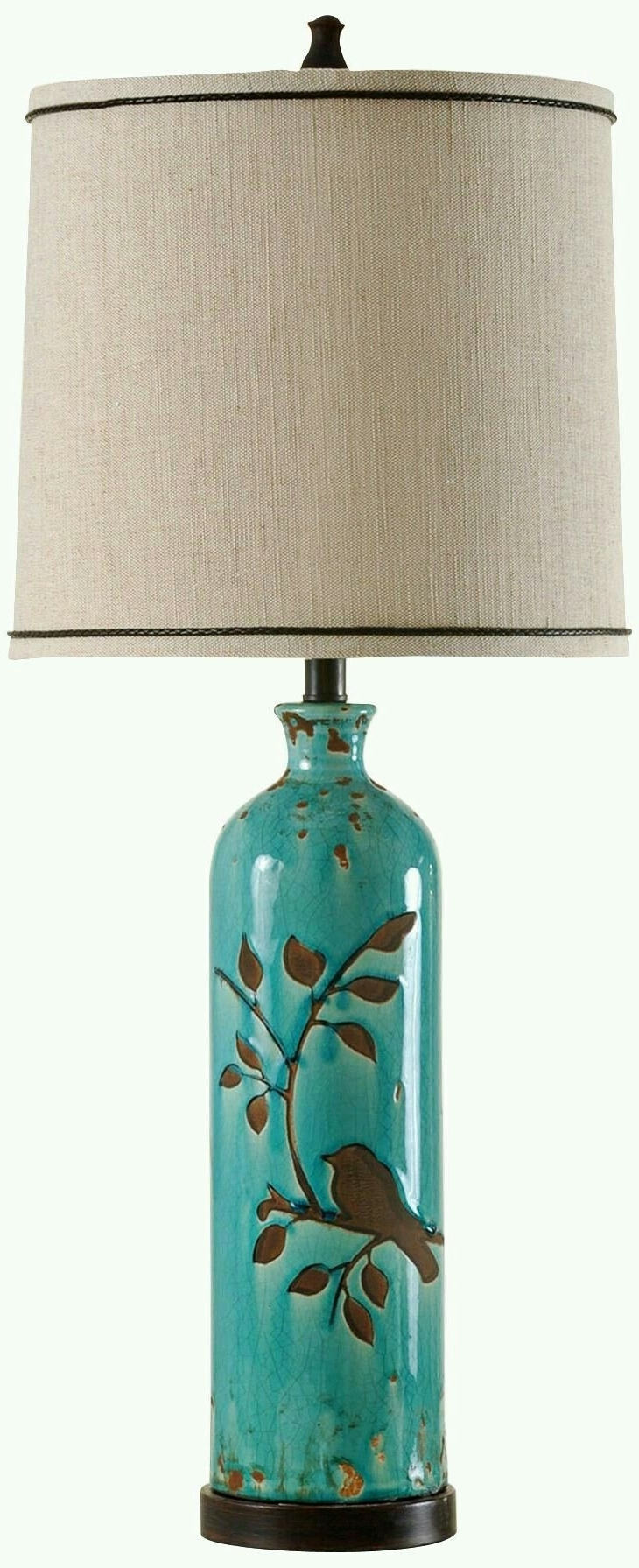 2018 Teal Living Room Table Lamps With Regard To Pinguzin Oz On Iki (View 2 of 15)