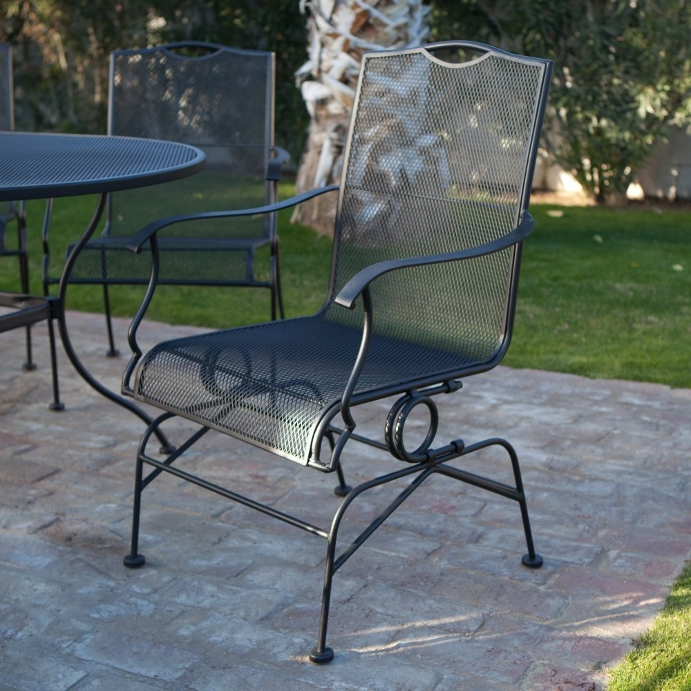 2018 Wrought Iron Patio Conversation Sets Regarding Wrought Iron Patio Furniture Sets Chairs — Wilson Home Ideas : New (View 5 of 15)
