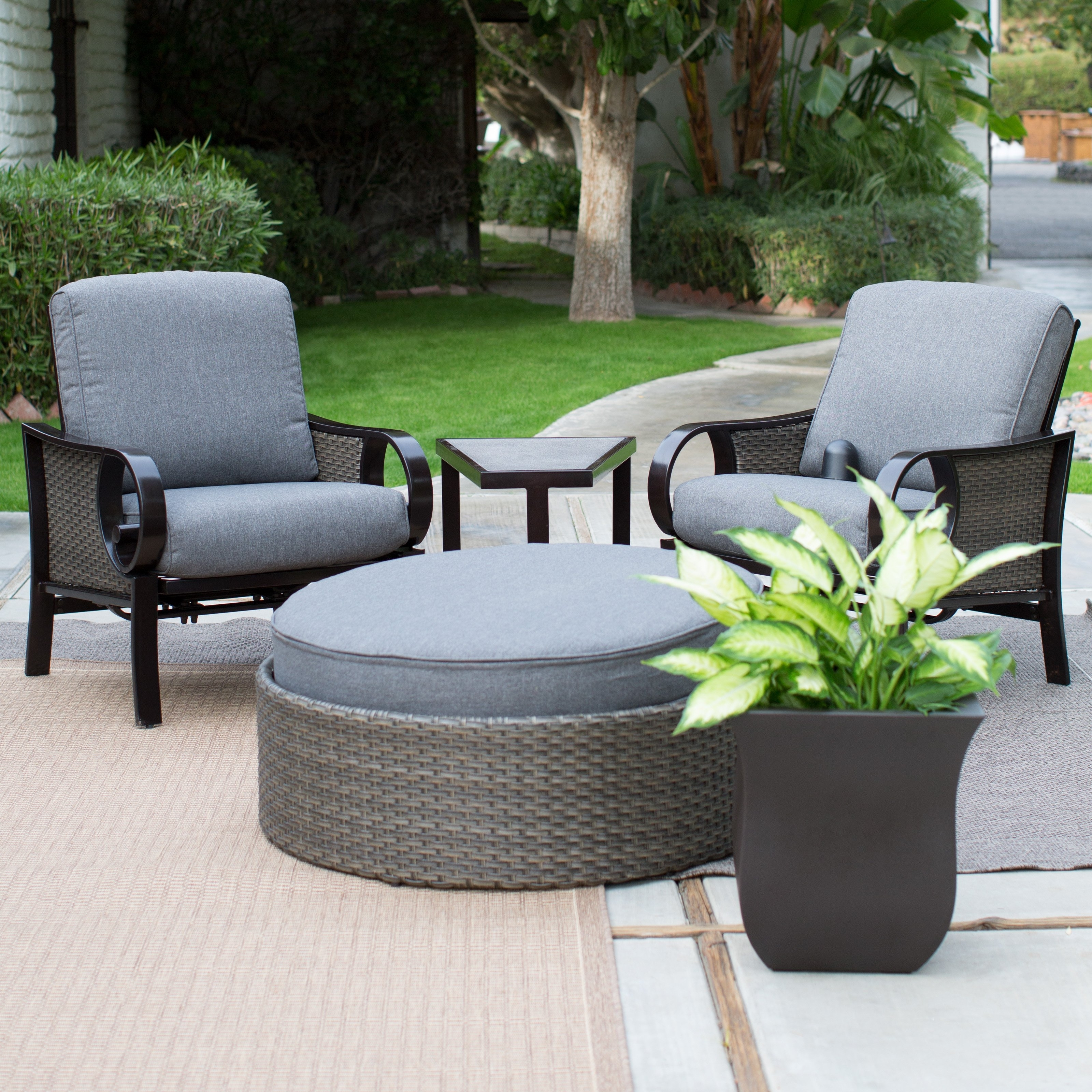 22 Creative Patio Conversation Sets With Ottoman – Pixelmari Throughout Well Known Patio Conversation Sets With Ottoman (View 1 of 15)