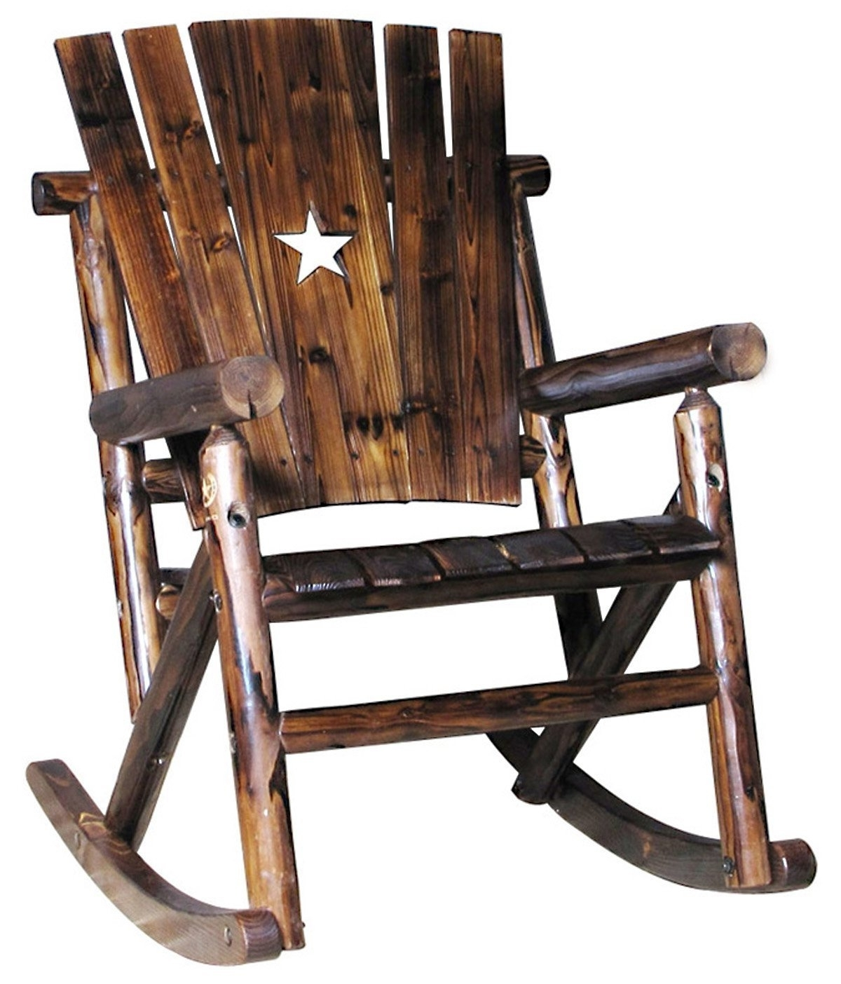3 Best Rustic Rocking Chairs Available In The Market – Nursery Gliderz Inside 2017 Char Log Patio Rocking Chairs With Star (View 1 of 15)