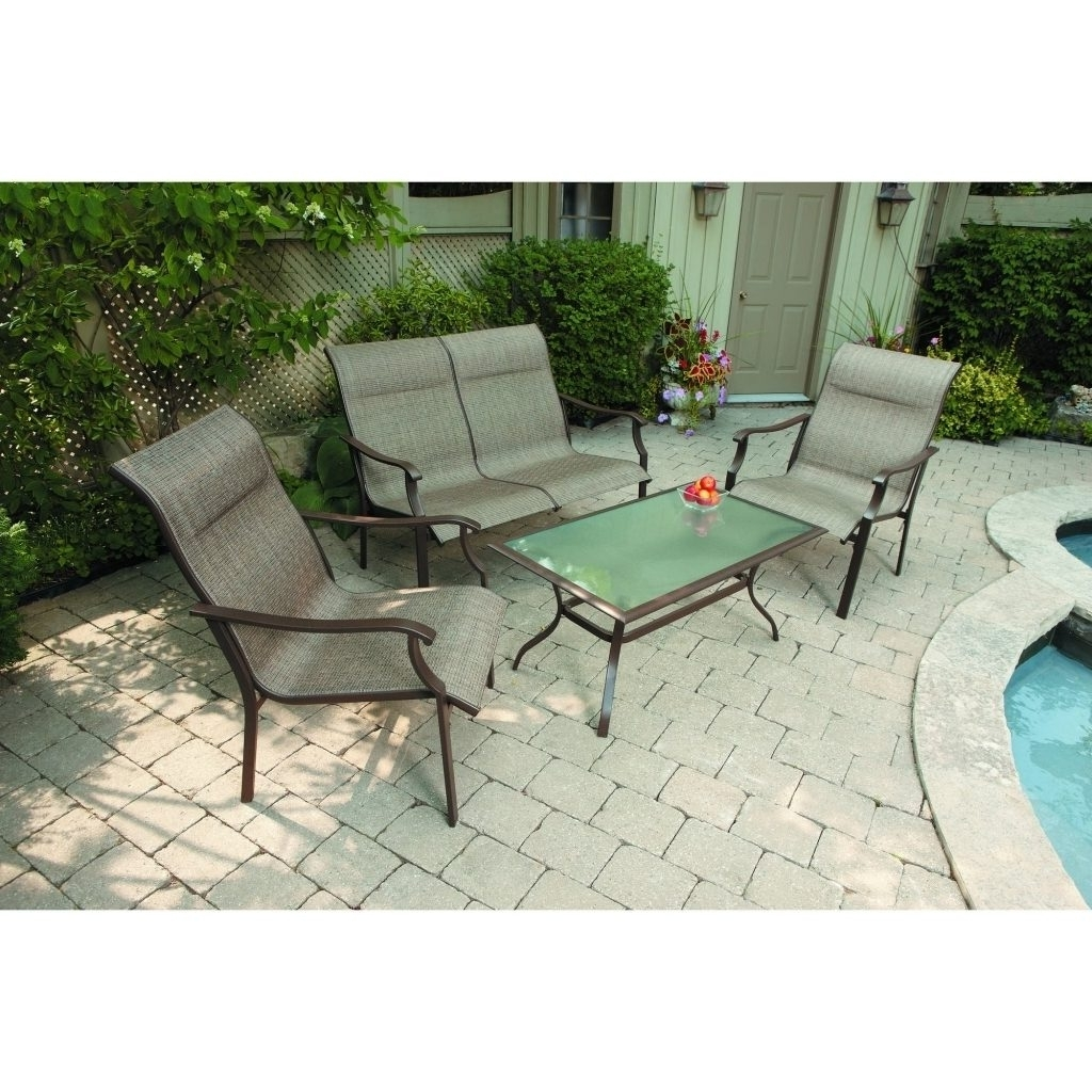 46 Patio Conversation Sets Under 300, Patio Conversation Set 4 Piece Pertaining To Trendy Patio Conversation Sets Under $500 (Gallery 5 of 15)