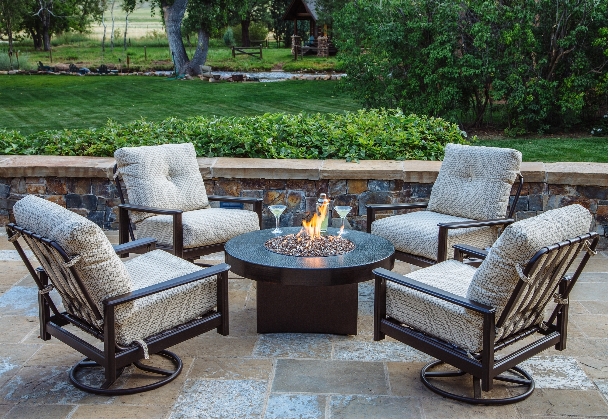 5 Piece Outdoor Chat Set