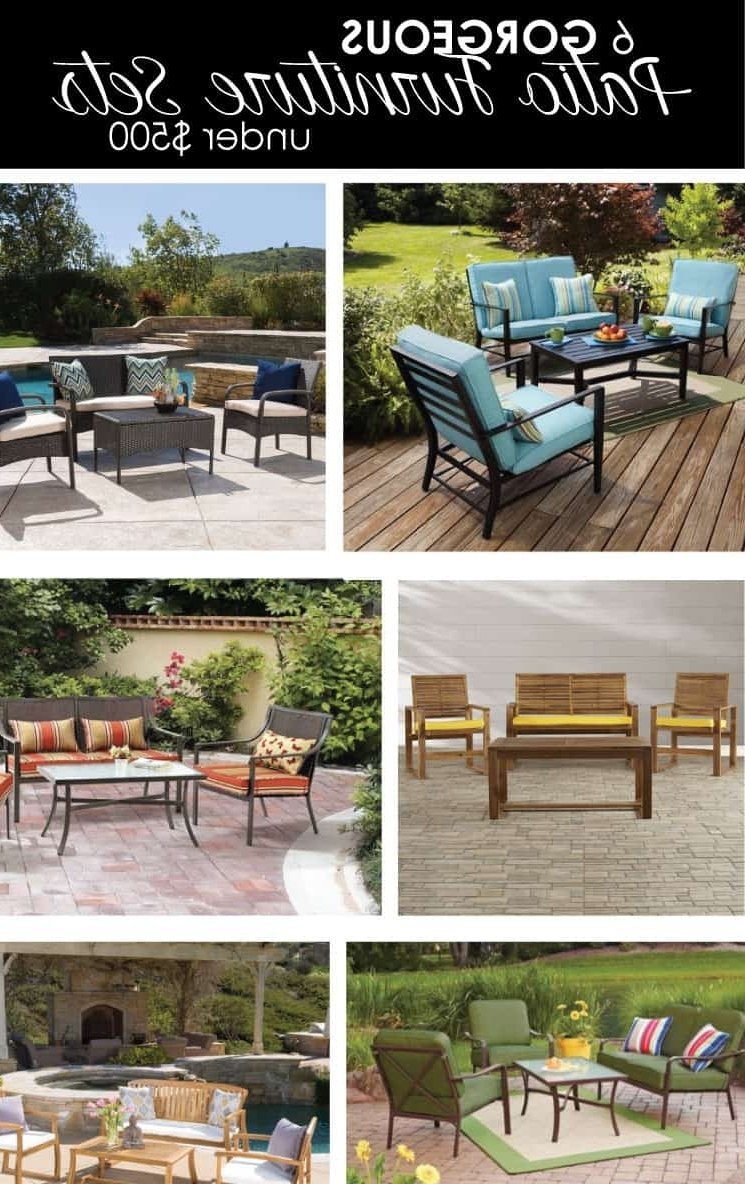 6 Gorgeous Patio Furniture Sets Under $500 (Gallery 10 of 15)
