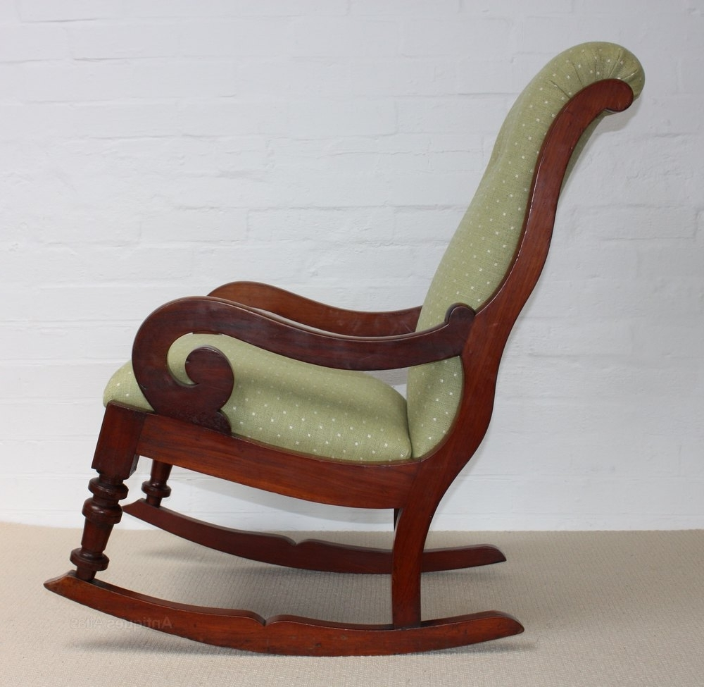 A Victorian Mahogany Rocking Chair – Roger Dixon Antiques & Upholstery Regarding Preferred Victorian Rocking Chairs (View 14 of 15)