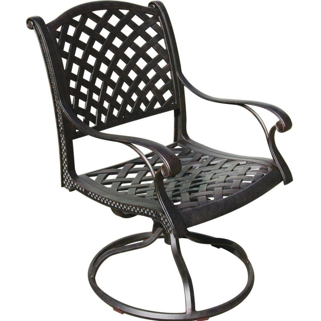 Aluminum Patio Dining Sets Darlee Nassau Cast Swivel Rocker Chair With Regard To Well Known Aluminum Patio Rocking Chairs (View 9 of 15)