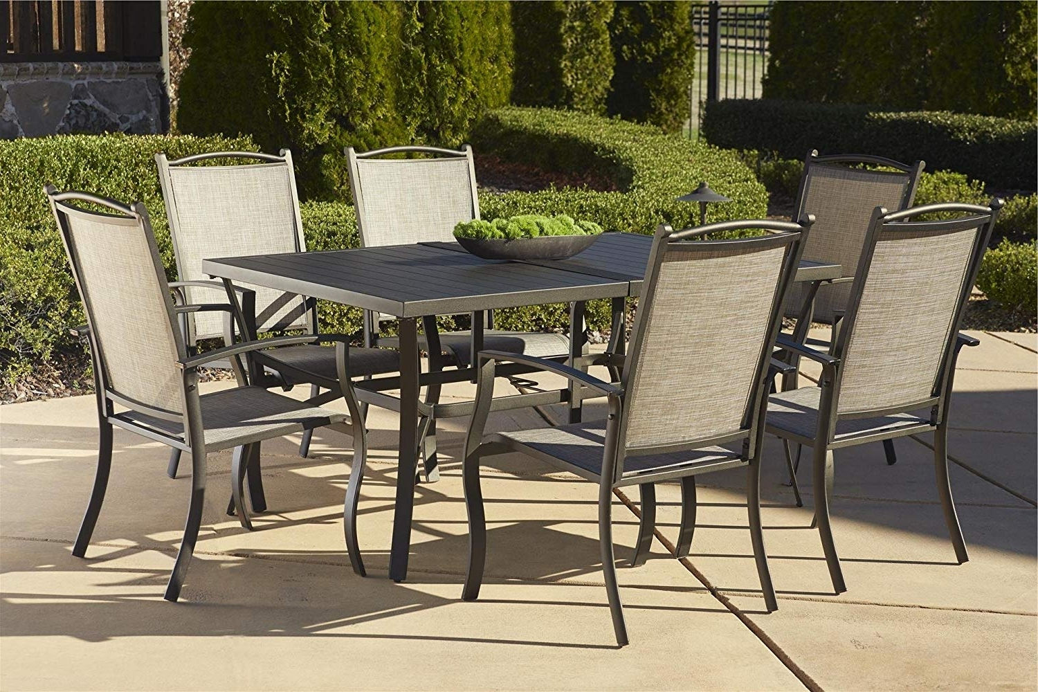 Amazon: Cosco Outdoor 7 Piece Serene Ridge Aluminum Patio Dining Intended For 2018 Patio Conversation Dining Sets (View 8 of 15)