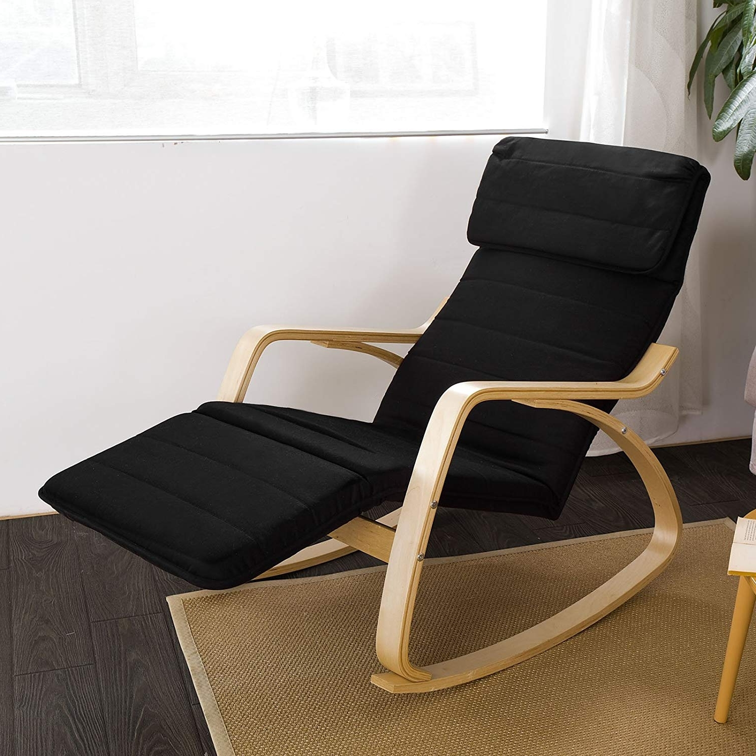 Amazon: Haotian Comfortable Relax Rocking Chair With Foot Rest regarding Current Rocking Chairs With Footrest