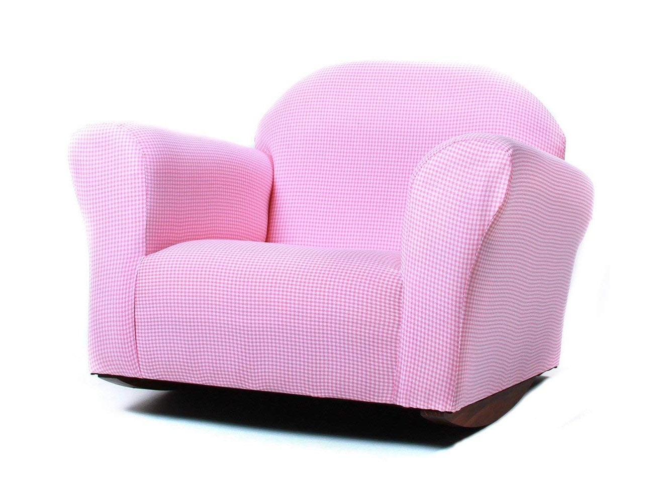 Amazon: Keet Roundy Rocking Kid's Chair Gingham, Pink: Baby Throughout Most Current Rocking Chairs For Toddlers (View 2 of 15)