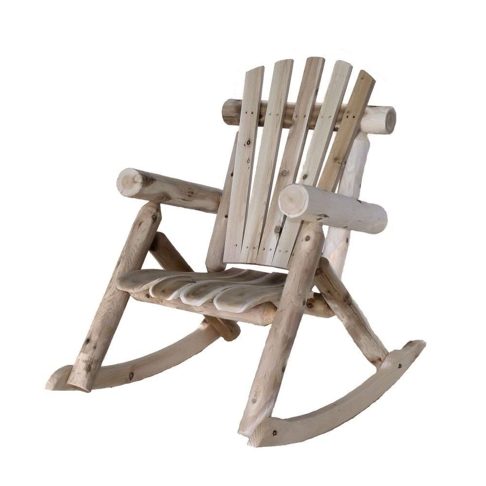 Amazon: Lakeland Mills Cedar Log Rocking Chair, Natural: Kitchen Within Popular Char Log Patio Rocking Chairs With Star (View 3 of 15)