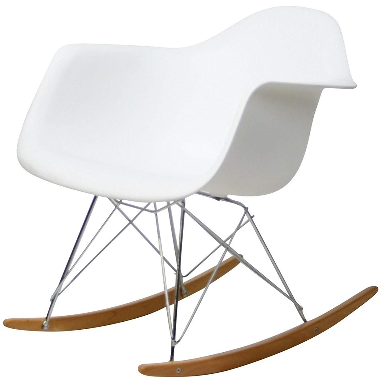 Amazon: Modway Eei 147 Whi Rocker Molded Plastic Accent Lounge Regarding Most Recently Released Amazon Rocking Chairs (View 7 of 15)