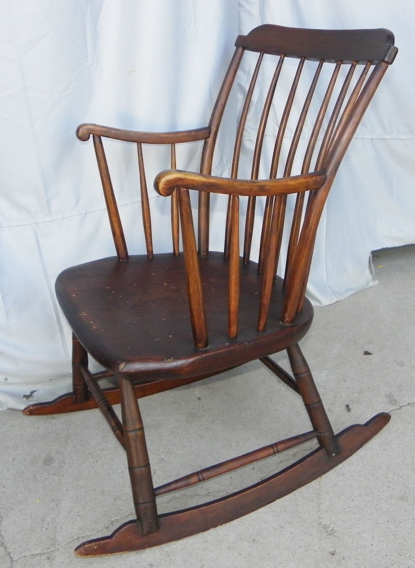 Antique Primitive Windsor Style Youth (View 1 of 15)