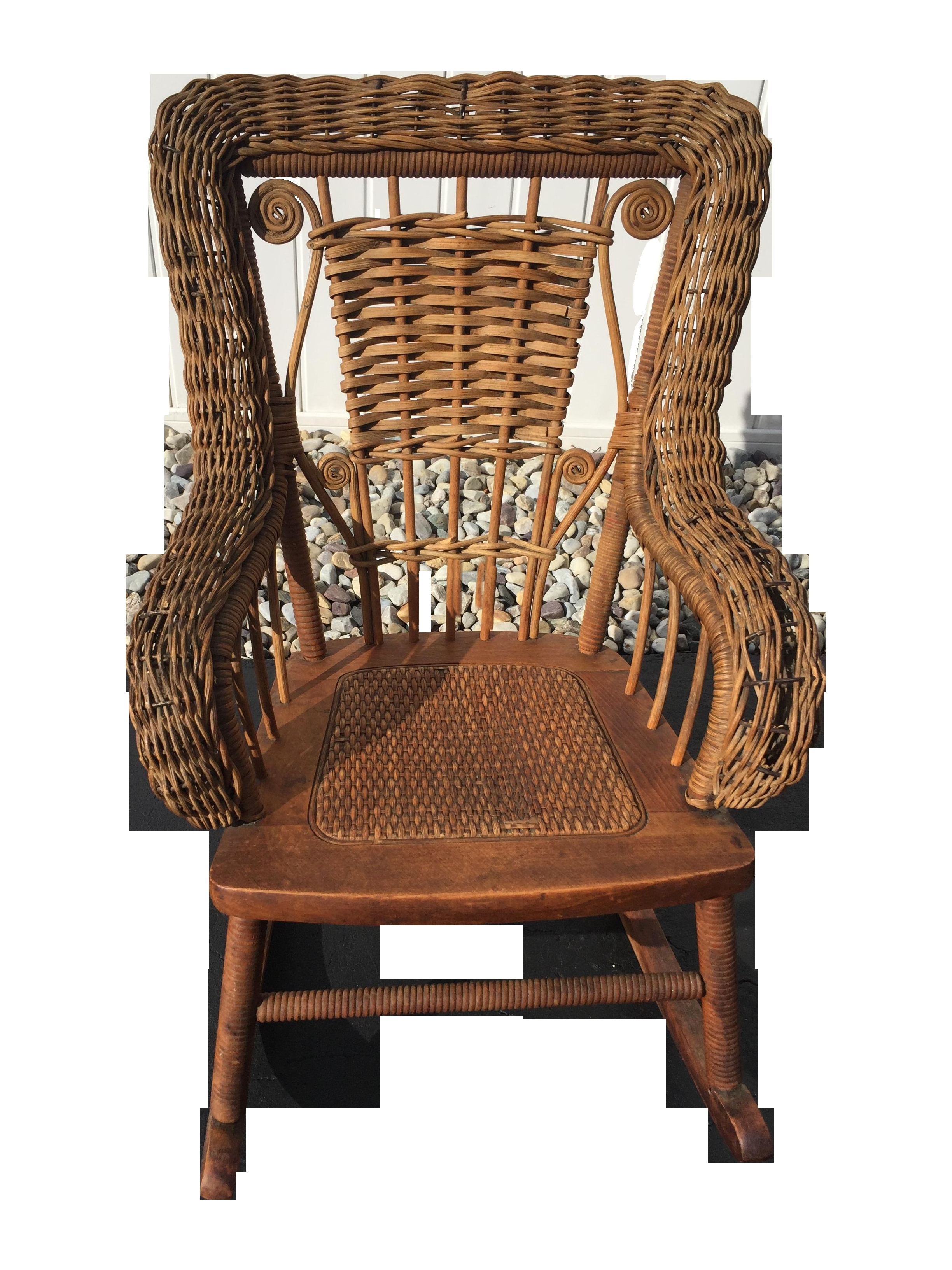 Antique Wicker Furniture Awesome Antique Wicker Rocking Chair Best With Regard To Trendy Antique Wicker Rocking Chairs (View 1 of 15)