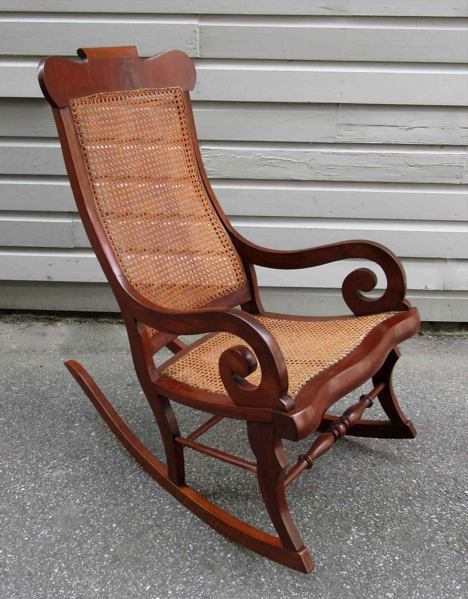 Antique Wicker Rocking Chairs Inside Most Recent Antique Cane Rocking Chair For Sale – Image Antique And Candle (View 9 of 15)