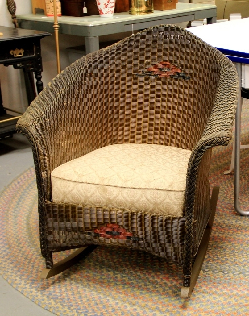 Antique Wicker Rocking Chairs With Springs Pertaining To Current Vintage Wicker Rocking Chair Ideas Furniture Decor Trend All Antique (View 2 of 15)