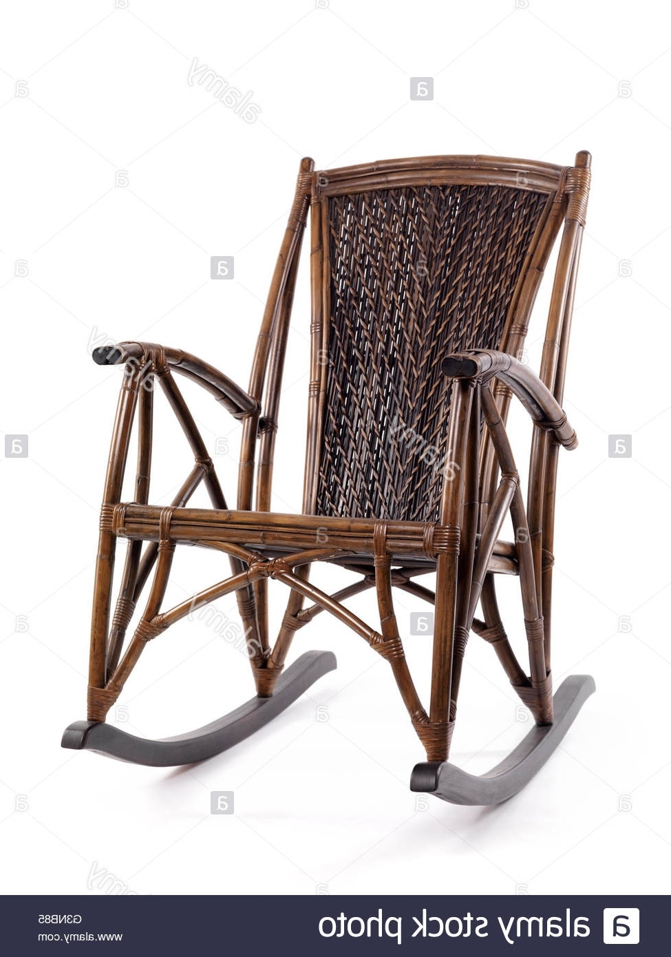 Antique Wicker Rocking Chairs With Springs Within Popular Antique Rocking Chair Stock Photos & Antique Rocking Chair Stock (View 4 of 15)