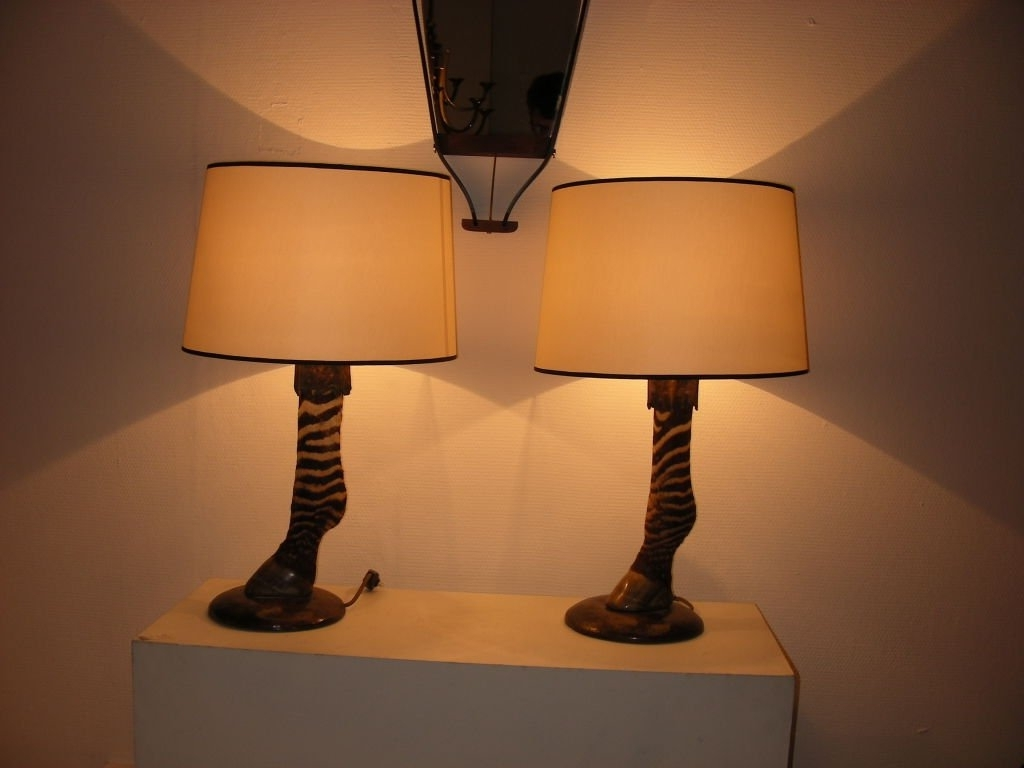 Astonishing Zebra Pair Of Lamp At Bathroom Dining Room Table Lamps In Preferred Purple Living Room Table Lamps (View 7 of 15)