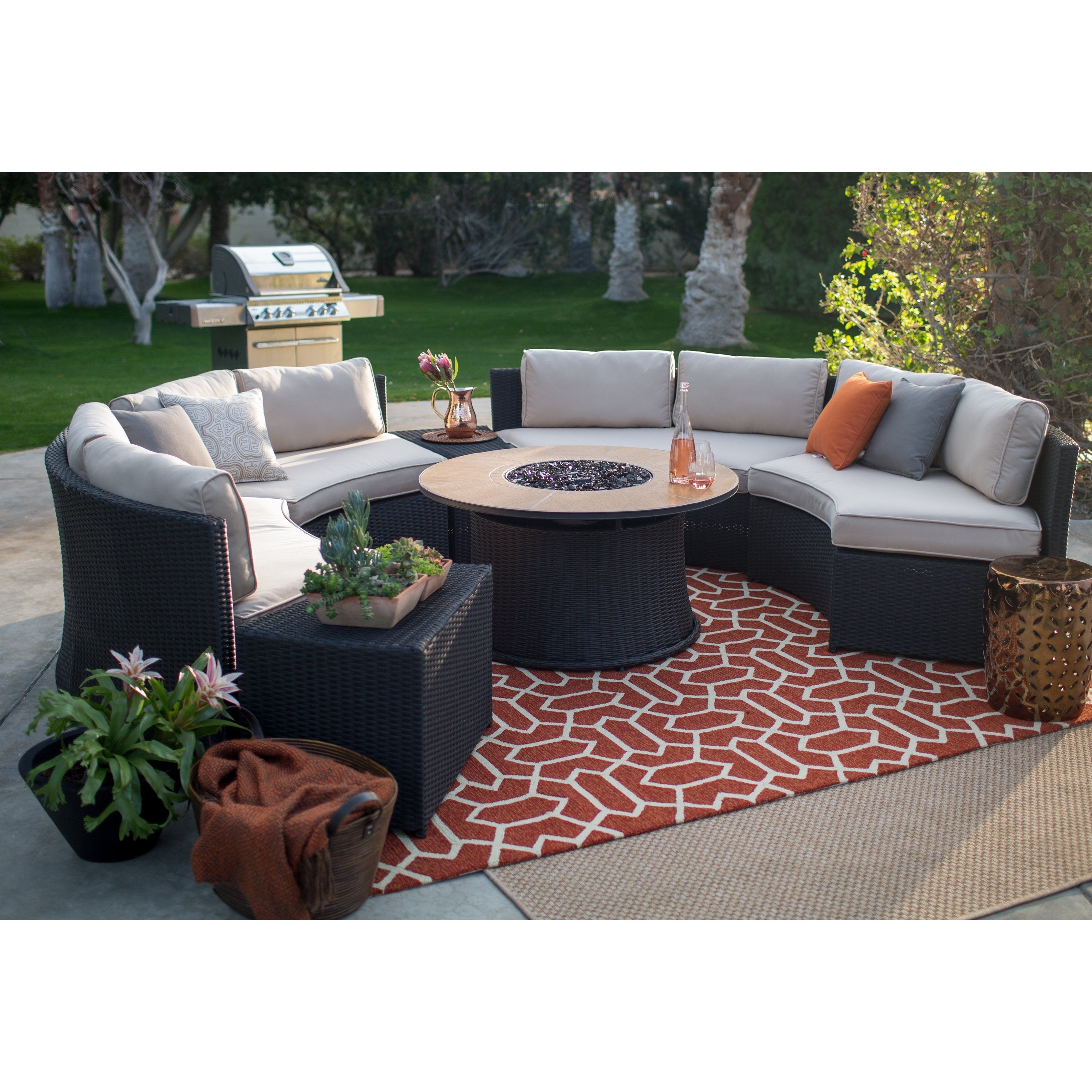 Best And Newest Hayneedle Patio Conversation Sets Within Belham Living Meridian All Weather Wicker 43 In (View 5 of 15)