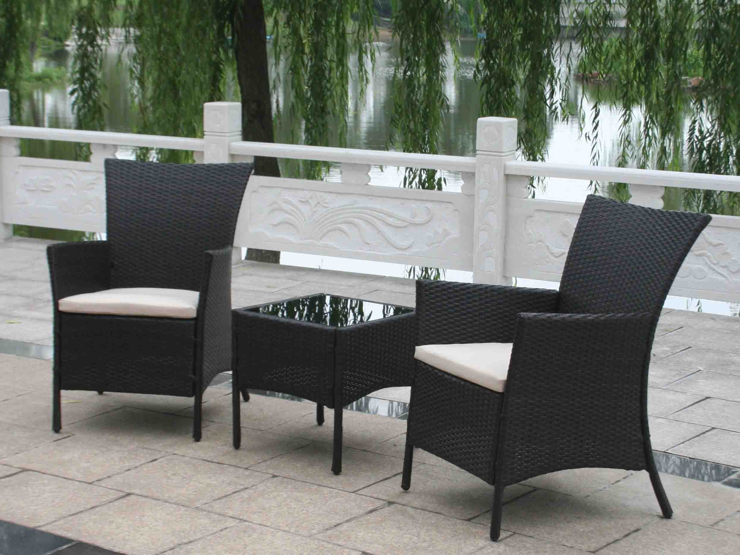 Best And Newest Patio : Black Wicker Patio Furniture Black Wicker Patio Furniture Throughout Black Patio Conversation Sets (View 13 of 15)