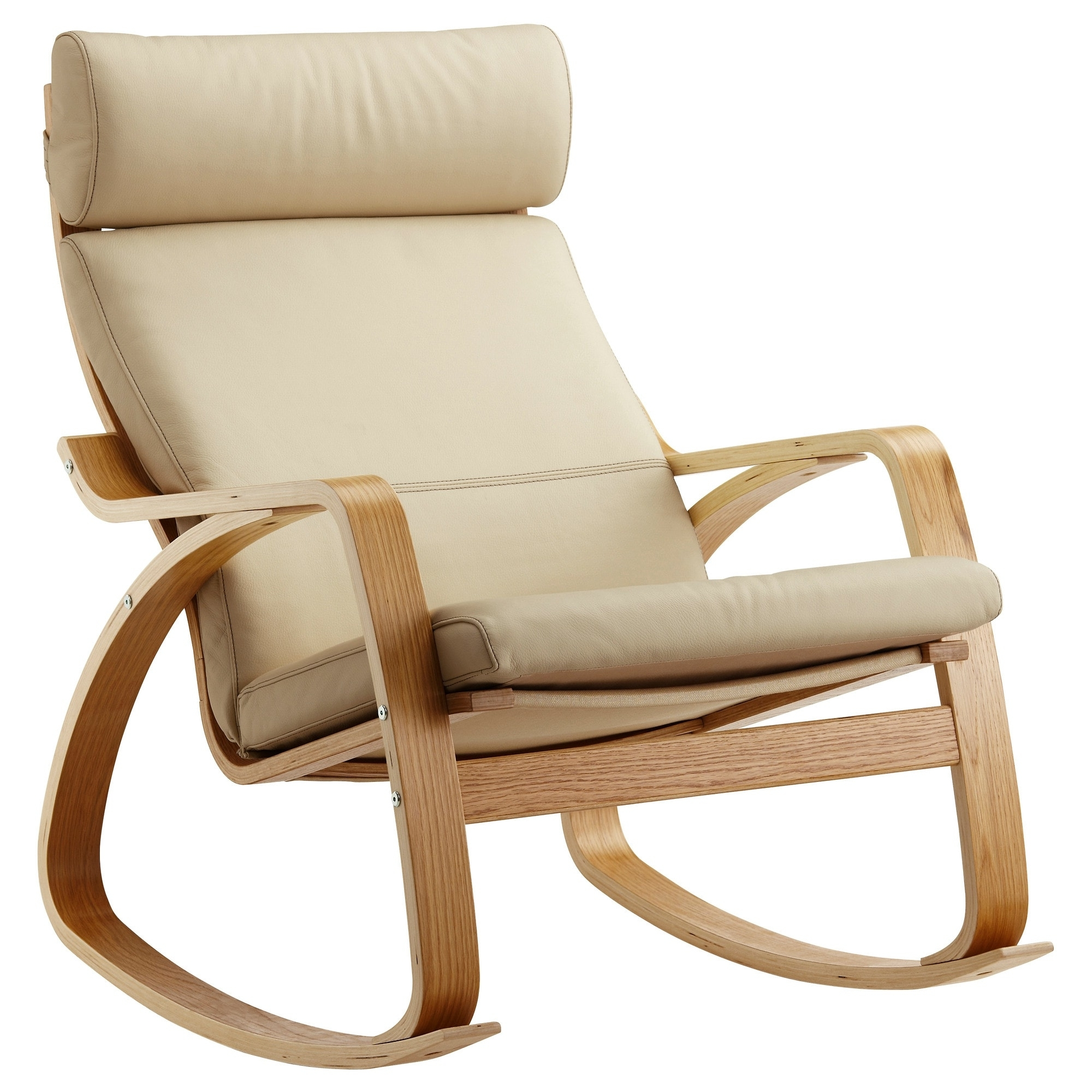 Best And Newest Poäng Rocking Chair Oak Veneer/glose Eggshell – Ikea Intended For Ikea Rocking Chairs (View 5 of 15)