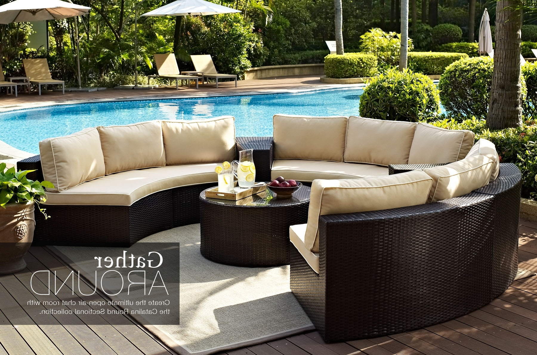 Best And Newest Ultimate Outdoor Furniture Round Sectional Circular Patio Inside Round Patio Conversation Sets (View 1 of 15)