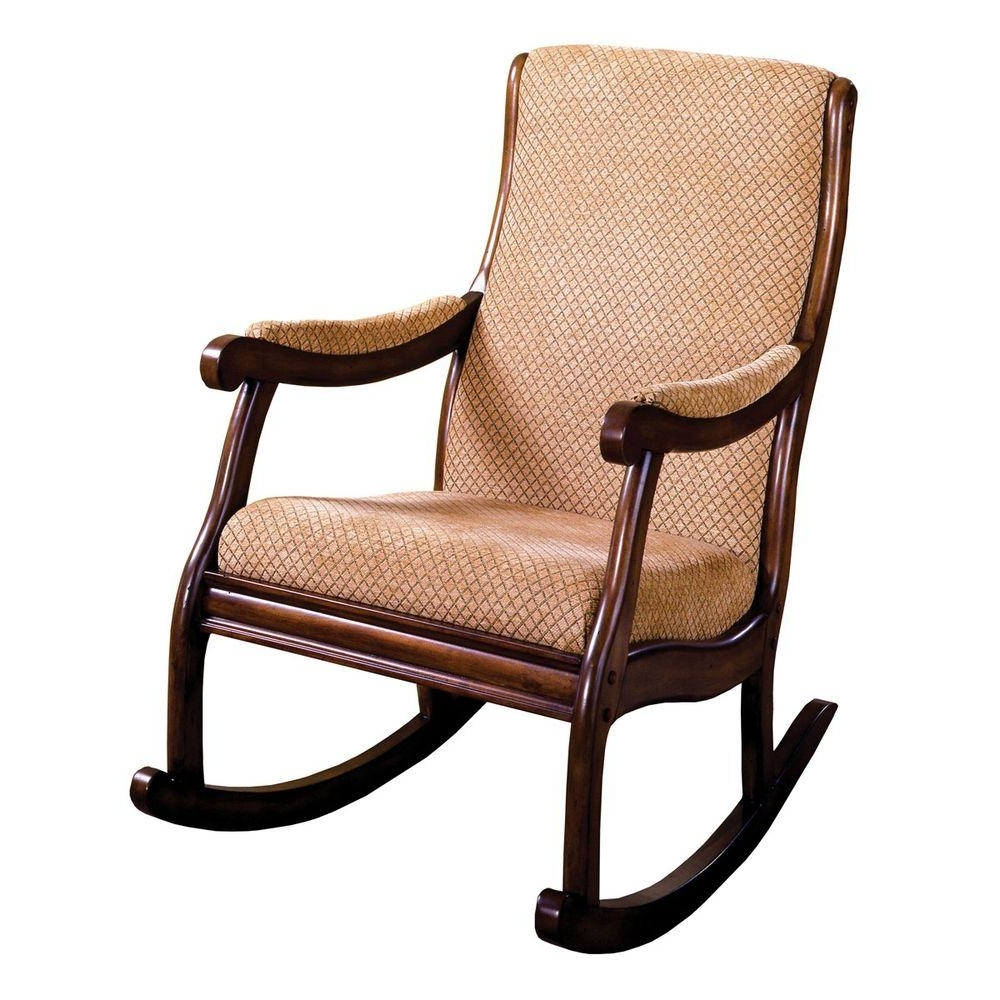 Best And Newest Zen Rocking Chairs With Regard To Liverpool Antique Oak Fabric Rocking Arm Chair Cm Ac6408 – The Home (View 12 of 15)