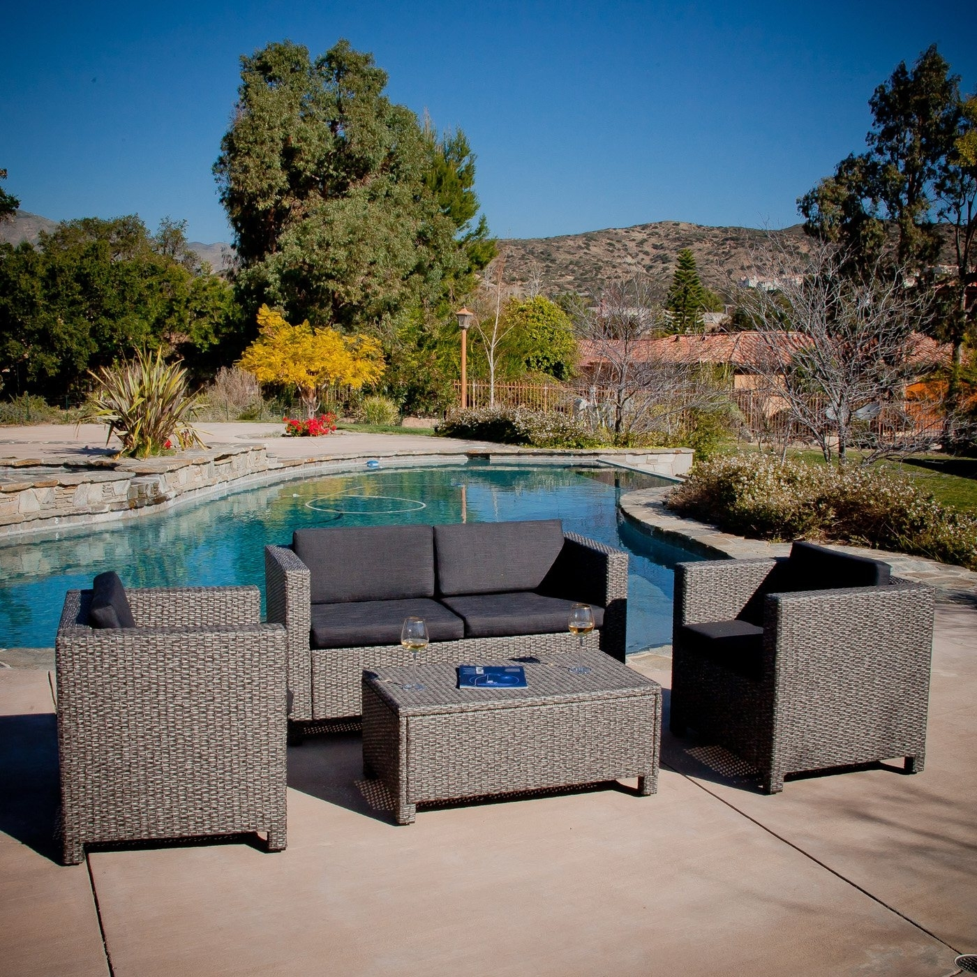 Best Selling Home Decor Puerta Grey Outdoor Wicker Sofa Set Regarding Widely Used Resin Wicker Patio Conversation Sets (View 1 of 15)