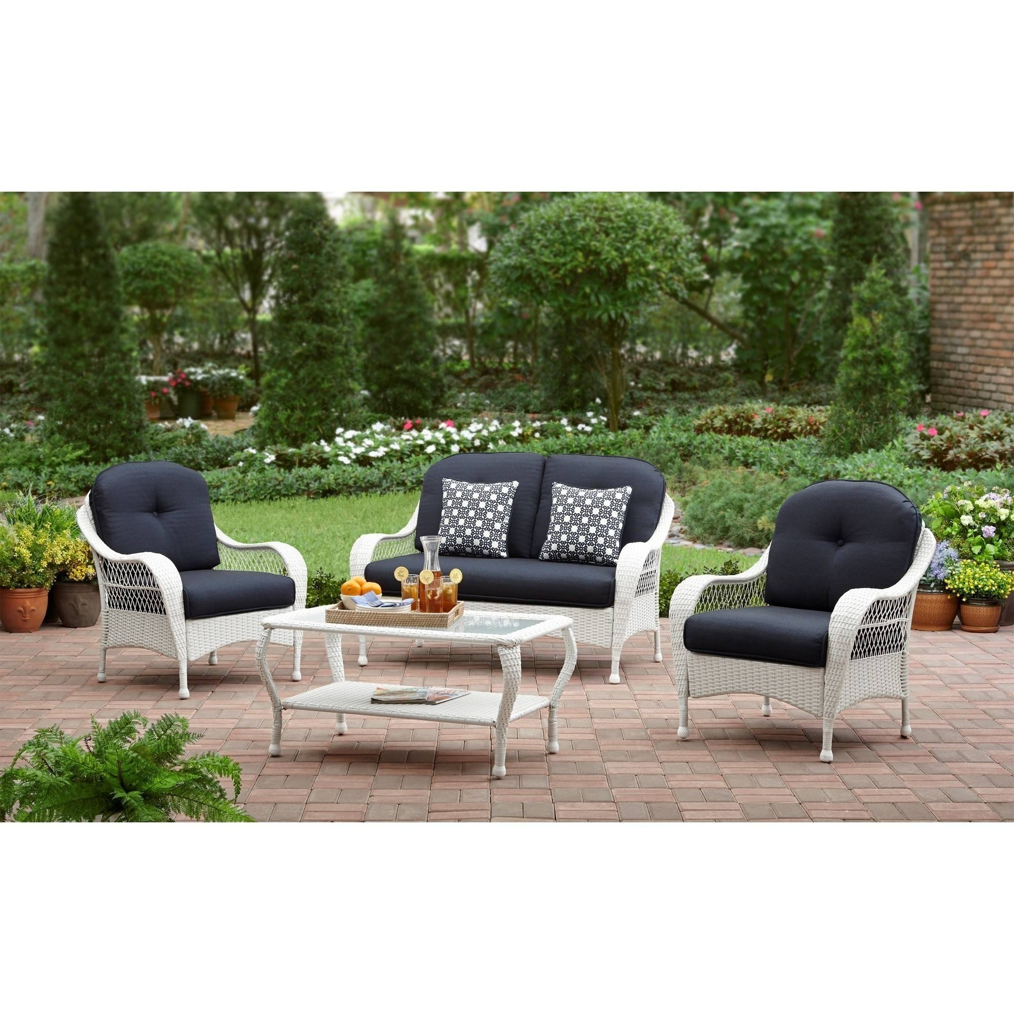 Better Homes And Gardens Azalea Ridge Outdoor Patio Conversation Set Pertaining To Trendy Patio Conversation Sets At Walmart (View 1 of 15)