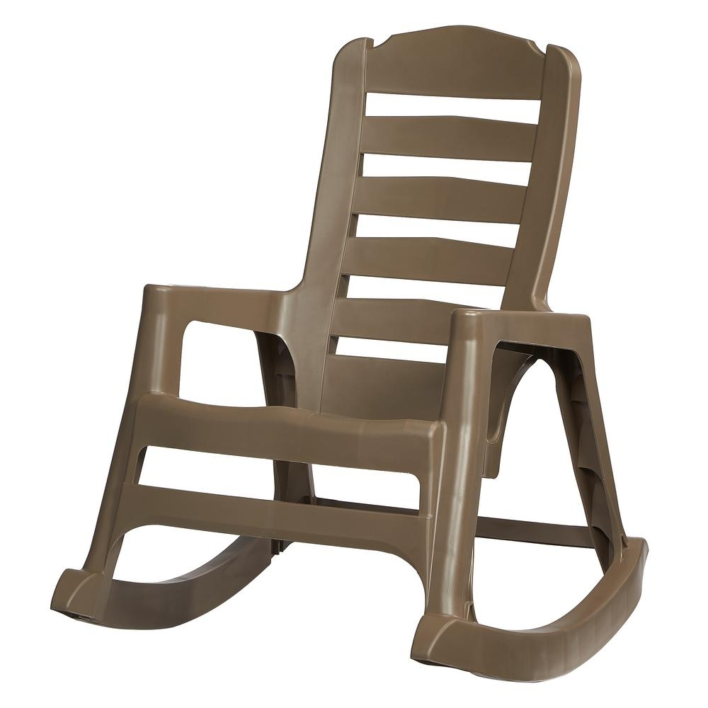 Big Easy Plastic Outdoor Rocking Chair Mushroom 8080 96 4300 – The For Well Known Stackable Patio Rocking Chairs (View 1 of 15)