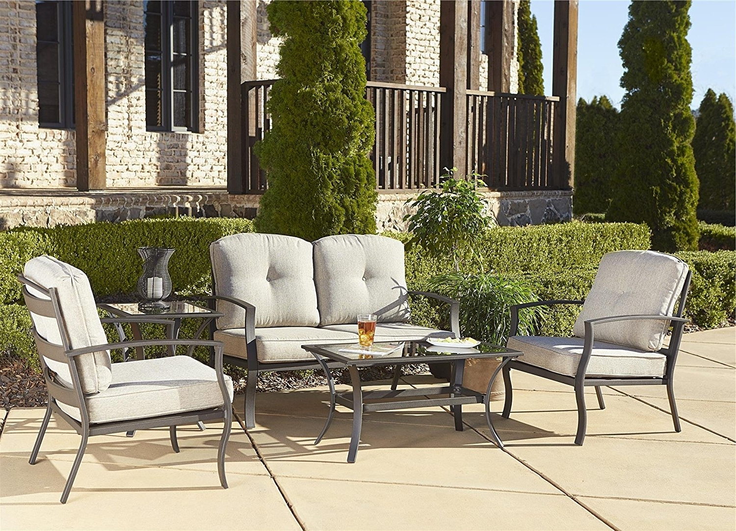 Big Lots Patio Furniture Target Patio Furniture Gas Fire Pit Chat Pertaining To Well Liked Patio Conversation Sets Under $ (View 15 of 15)