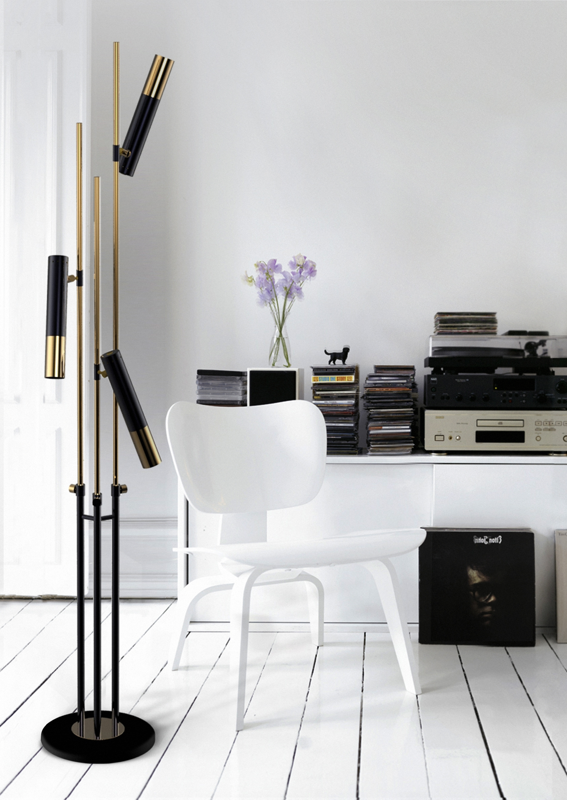 Black Living Room Table Lamps Pertaining To Well Liked Black Floor Lamps (View 12 of 15)