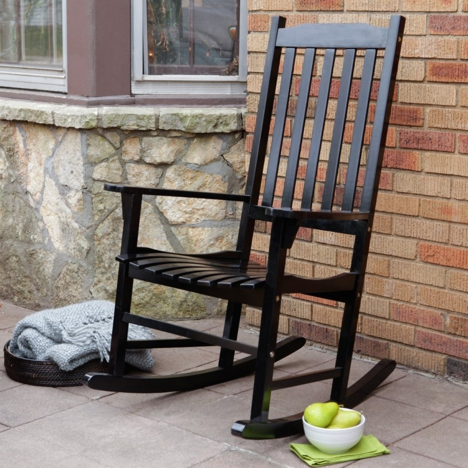 Black Patio Rocking Chairs Throughout Best And Newest Outdoor Black Rocking Chairs Modern Quality Interior Astonishing For (View 6 of 15)