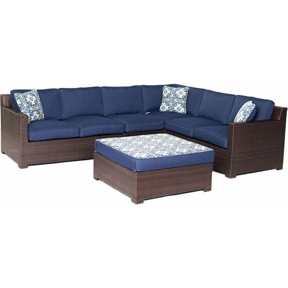 Blue Patio Conversation Sets Inside Recent Outdoor Wicker Furniture With Blue Cushions – Outdoor Designs (View 15 of 15)