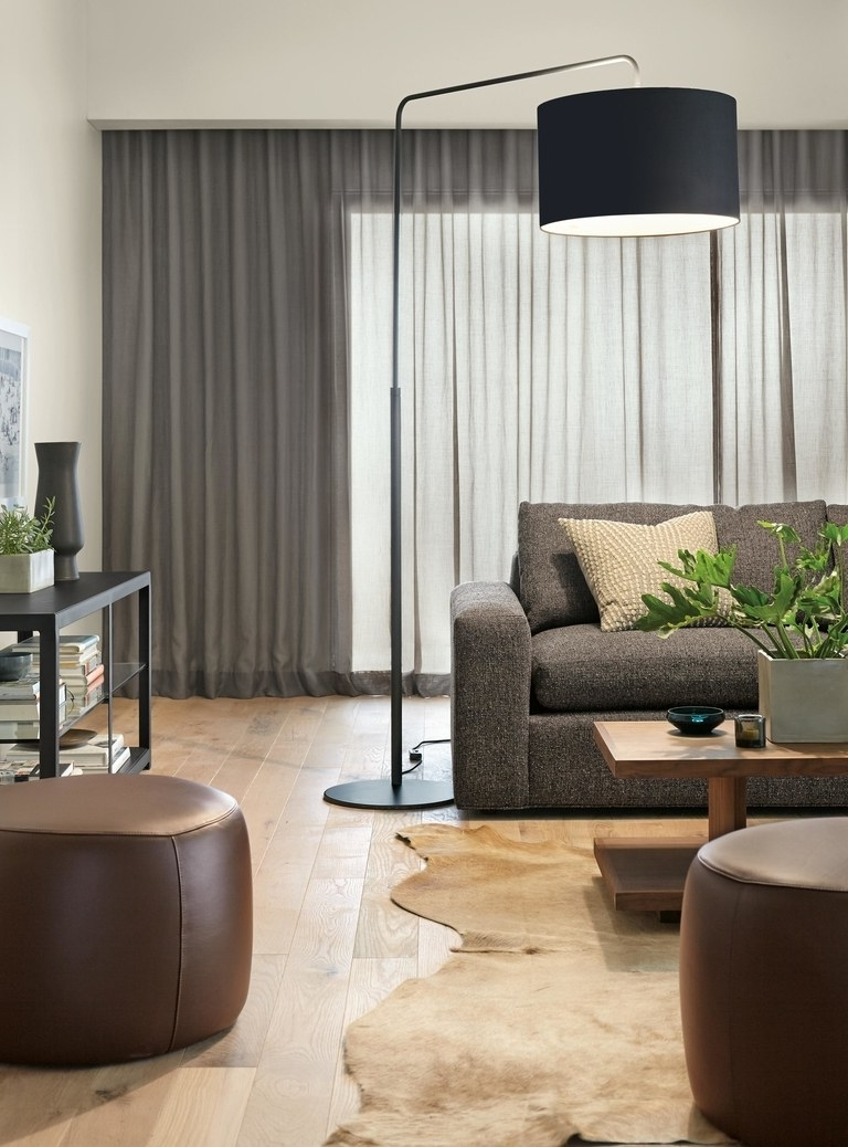 Brown Living Room Table Lamps Intended For Newest You Need An Arc Floor Lamp For Your Dining Table (View 1 of 15)